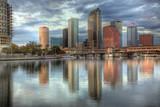Beautiful blue sunrise sunset and reflections Tampa poster