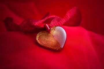 Heart jewelry handmade from murano glass