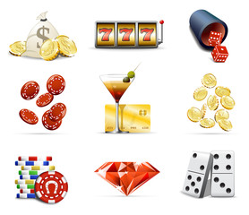 Gambling and casino icons, part 2