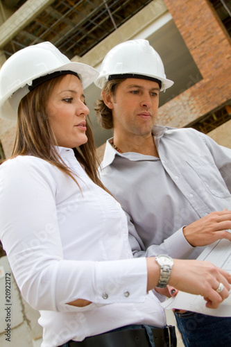 Engineers at a building site