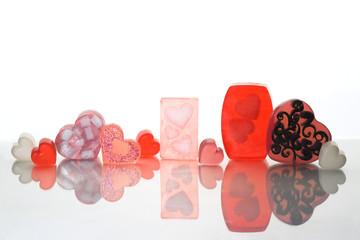 Valentine's day homemade soap bars