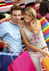 couple out shopping