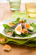 salad with spinach,eggs