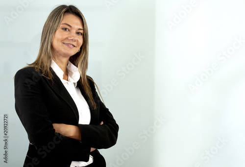 Business woman portrait in an office