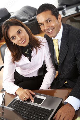 business partners in an office