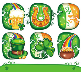 St. Patrick's Day icon set series 6