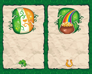 St. Patrick's Day paper backgrounds series 3