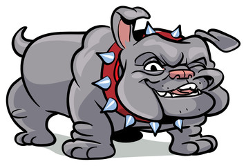 bulldog body - vector illustration, part of a series