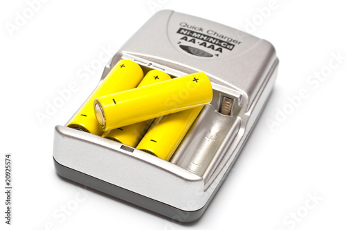 Leinwanddruck Bild battery charger