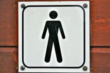 Homme femme wc tableaux sur toile tableaux et posters for Poster porte wc
