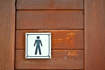 Porte WC homme