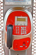Téléphone public rouge