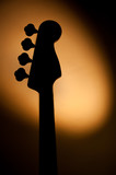 Electric jazz bass shadow