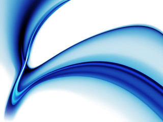 dynamic blue wavy motion on white