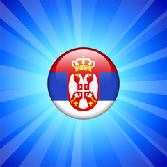 Serbia Flag Icon on Internet Button