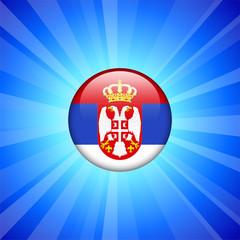 Serbia Flag Icon on Internet Button
