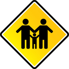 Family sign vector illustration