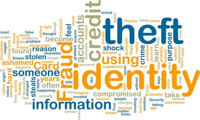 Identity theft wordcloud