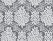 Vector. Damask pattern with rose bouquets