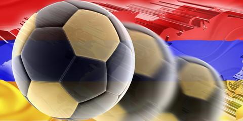 Armenia flag wavy soccer