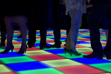 Colorful led dance floor