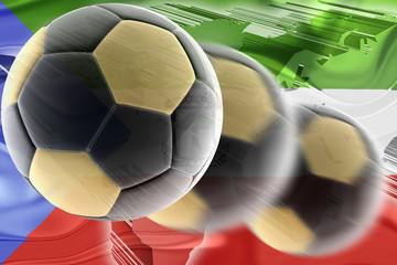 Flag of Equatorial Guinea wavy soccer