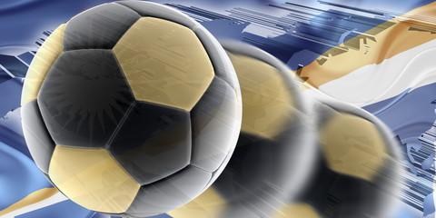 Flag of Marshall Islands wavy soccer