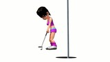 Golf Girl 3D animation