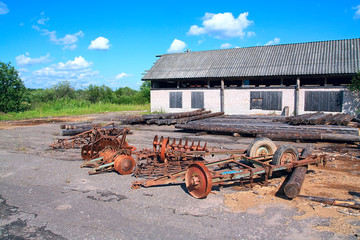 old agricultural mechanisms.