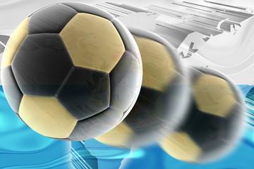 Flag of San Marino wavy soccer