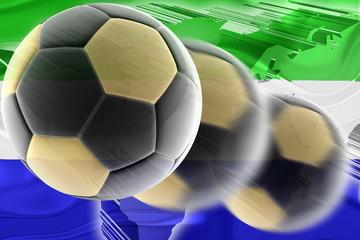 Flag of Sierra Leone wavy soccer