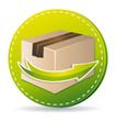 Green delivery service icon