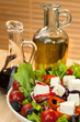 Fresh Feta Cheese Salad With Olive Oil and Balsamic Vinegar