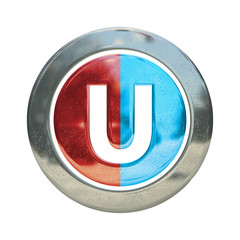 Chrome Circle U