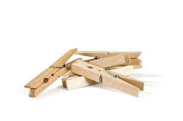 Mollette legno mucchio