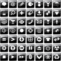 Vector collection of web buttons