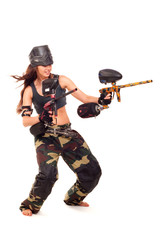 Paintball girl