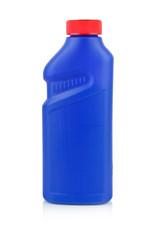 Plastic chemical bottle isolated on white