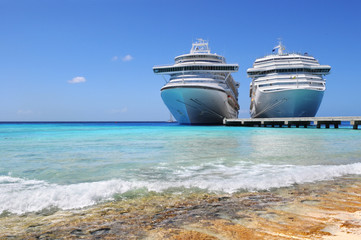 Cruise Ships Docked in Caicos Island