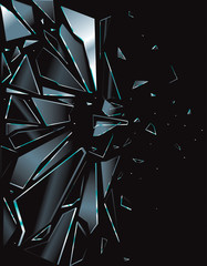 Broken Glass Black 1