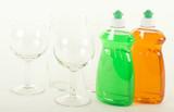 Dishwashing Liquid with Glasses poster