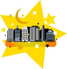 Yellow night city