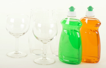 Dishwashing Liquid with Glasses
