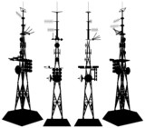 Telecommunications Tower Vector 01 poster