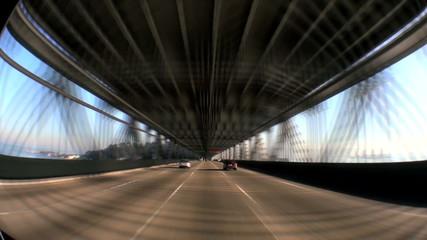 Time-Lapse Driving Oakland Bay Bridge