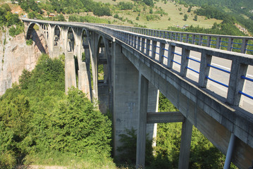 long concrete bridge