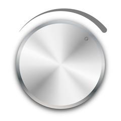 Vector volume knob on white background