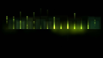 green background equalizer