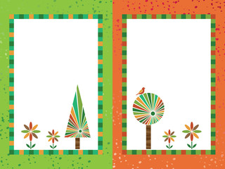 orange and green frames