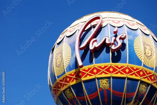 In de dag Las Vegas Close up of the Paris hotel Balloon in Las Vegas